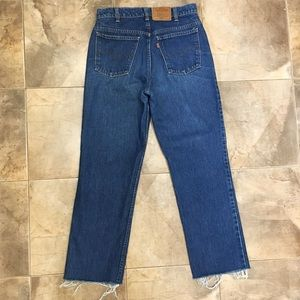 VTG Levi's High Waist Orange Tab Blue Mom Jeans 32